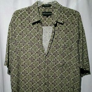 Croft & Barrow Men's rayon button up Size Large